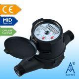 MEDIADOS DE tipo seco multi certificado contador de jet del agua de la lectura a distancia