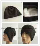 Создатель шлема способа сбывания поддельный шерсти зимы горячий связанный Earflap (KH1503-16)