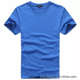 T-shirt pur en gros de coton de couleur avec le logo fait sur commande