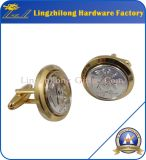 2つの調子の終わりの合金のカフスボタンの石大工のカフスボタン