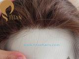 Chiusura della parte superiore dei capelli umani 4# per la donna