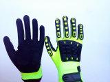 Польностью Coated перчатки Hppe нитрила Sandy с шить TPR