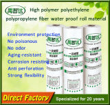 Membrane d'impermeabilizzazione del polipropilene del polietilene dell'alto polimero per il tetto di legno della Camera