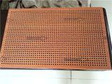 Los paneles de techo de madera de color perforada de aluminio de nido de abeja