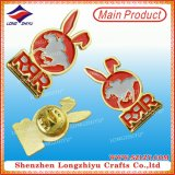 Botones de encargo de la divisa del Pin de la escritura de la etiqueta del metal