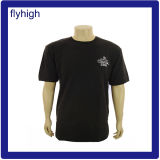 Custom Logo Sublimation Printing Mens Black T Shirt
