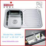 Contro dispersore di cucina superiore dell'acciaio inossidabile con la scheda dello scolo, dispersore dell'acciaio inossidabile, dispersore della barra (8048)