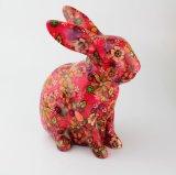 Caixa de moeda cerâmica de venda quente do coelho de Handpainting do preço de grosso
