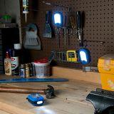 Luz magnética redonda dual del trabajo de las funciones 27 LED con el gancho de leva colgante integral