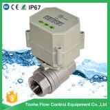 OEM 220V 2way valvola motorizzata d'ottone dell'acqua della valvola a sfera di controllo del temporizzatore da 1 pollice (S25-N2-C)