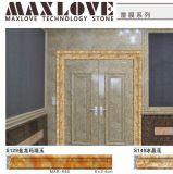 Moldeados envueltos perfil de mármol del azulejo del PVC para la puerta Fram del hotel