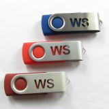 Movimentação clássica colorida do flash do USB do giro do USB com logotipo