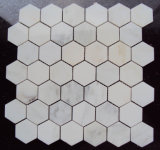 도매 최상 자연적인 백색 대리석 벌집 위원회 육각형 모자이크