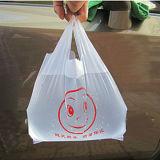 يشكر دكّان بقالة بلاستيكيّة أنت [تشيرت] حقيبة مع ابتسام وجه