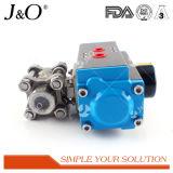 Venta caliente Válvula de bola con actuador Sanitaria 3PCS