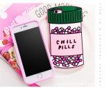 Caja cuadrada del teléfono celular del silicón de las pociones de las píldoras del amor de la botella (XSF-060)