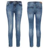 Kundenspezifische Dame-Kleid-Baumwollblaue Denim-Jeans