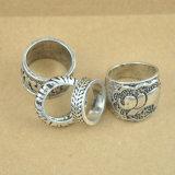 Retro Gesneden Antieke Zilveren Reeksen van de Ring