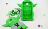 Caisse verte de téléphone de dessin animé de silicones de Weirdoc pour Samsung G530 (XSY-026)