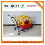 Chariot 08021 à achats de supermarché en métal d'épicerie