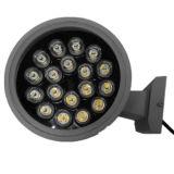 Indicatore luminoso esterno della parete del LED con le doppie teste