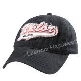 Gorra de béisbol lavada pesada del bordado 3D (LW15002)