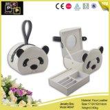 Cadre de bijou en cuir d'unité centrale de panda fabriqué à la main (8047)