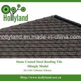 Azulejo de material para techos revestido de piedra del metal (tipo de la ripia)