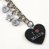 Förderndes Geschenk - Metalldecklack-Schlüsselketten-Ring-Andenken mit Malta-Firmenzeichen
