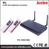 M2 2.5g Sistema de áudio receptor de microfone de dupla passagem para ensinar