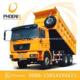 Gebruikte Shacman 10 de Kipper van de Vrachtwagen van de Stortplaats van Wielen met de Cabine van de Mens voor Afrika