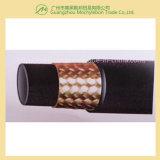 """Le fil d'acier a tressé le boyau hydraulique couvert par caoutchouc renforcé (SAE100 R1-2 """")"""