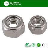 Acier inoxydable SS304 Ss316 d'A2 A4 tout l'écrou de blocage Hex en métal (DIN980)