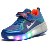 New Mold Fashion Ladies PU Upper High Top LED Sport Roller Skates Shoes