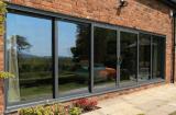 Portas deslizantes de alumínio de dupla janela em sistemas de serviço pesado