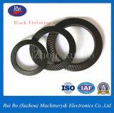 Double garniture latérale en caoutchouc de rondelle à ressort de rondelles de freinage de moletage de l'acier inoxydable DIN9250
