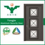 Дверь обеспеченностью самой последней конструкции декоративная алюминиевая