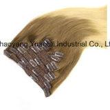 バージンの毛から成っている純粋な人間の毛髪の拡張(毛のWeft/編むか、またはクリップ)