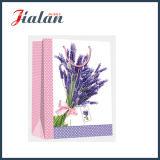 Оптовая бумага цвета слоновой кости с мешком подарка бумажной несущей цветка лаванды