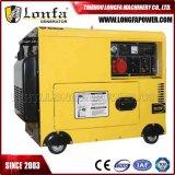Draagbare Stille Op zwaar werk berekende 6.5kw Diesel van 6500 Watts Generator (Enige Fase/In drie stadia)