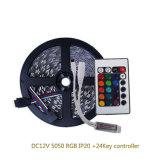 Прокладка DC12V 5050 RGB СИД с регулятором 24key RGB СИД