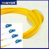 LC modalidade 9/125 OS1 /Simplex frente e verso do cabo da correção de programa da fibra do LC à única disponível