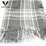 Ladies Winter Acrílico Fringe Edge Woven Knit Square Scarf