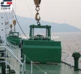 Garra hidráulica da parte superior do guindaste do navio para a areia