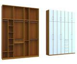 Armário Walk-in da grão de madeira em forma de u do melhor projeto