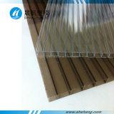 Transparentes überzogenes Polycarbonat-Höhlung Policarbonato Dach-UVblatt