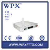 WiFi Gpon ONU 4ge+2FXS+WiFi compatível para Huawei Zte Olt Ontário