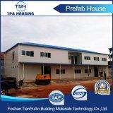 2 prefabriceerde het Vlakke Dak van vloeren Modern Modulair Huis voor het Kamp van de Arbeid