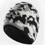 주문 스포츠를 위한 자카드 직물에 의하여 뜨개질을 하는 겨울 스키 모자