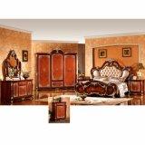 Insieme di camera da letto classico con la base ed il guardaroba antichi (W815A)